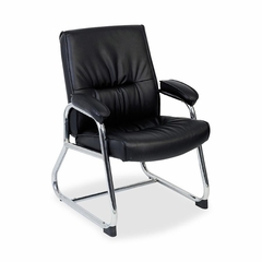 Guest Chair - Black Leather - LLR60504