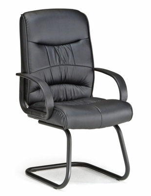 Guest Chair - Black Leatherette - OFM - 509-LX