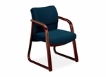 Guest Chair - Blue Fabric/Mahogany Base - HON2903NAB90