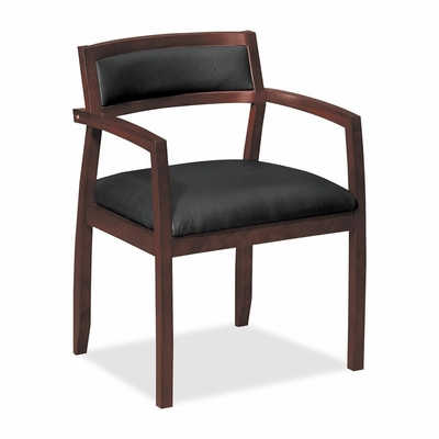 Guest Chair - Bourbon Cherry/Black Leather - BSXVL852HST11