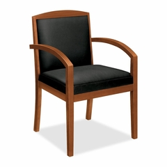 Guest Chair - Bourbon Cherry/Black Leather - BSXVL853HSP11