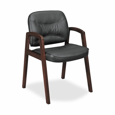 Guest Chair - Burbon Cherry/Black Leather - BSXVL803HST11