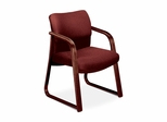 Guest Chair - Burgundy Fabric/Mahogany Base - HON2903NAB62