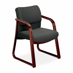 Guest Chair - Gray Fabric/Mahogany Base - HON2903NAB12