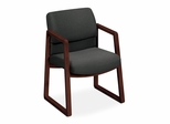 Guest Chair - Gray Fabric/Mahogany Frame - HON2403NAB12