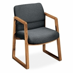 Guest Chair - Gray Fabric/Medium Oak Frame - HON2403MAB12