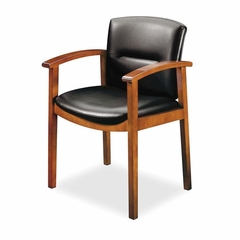 Guest Chair - H.Cherry/Black Vinyl - HON5003JEE11