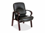 Guest Chair - Mahogany/Black Leather - LLR60340