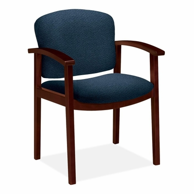 Guest Chair - Mahogany/Blue - HON2111NAB90