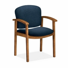 Guest Chair - Medium Oak/Blue - HON2111MAB90