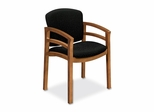 Guest Chair - Medium Oak/Raven - HON2112MBE11