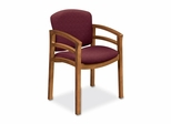 Guest Chair - Medium Oak/Wild Rose - HON2112MBE62