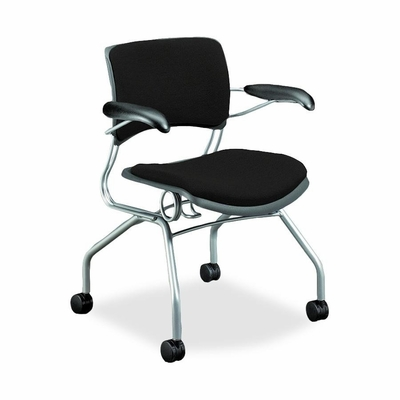Guest Chair - Raven Fabric/Titanium Fm - HON4316BE11C