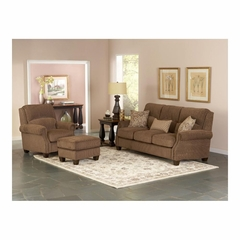 Hadley Amber Upholstered Sofa, Club Chair and Ottoman - Largo - LARGO-WG-F1211-SET