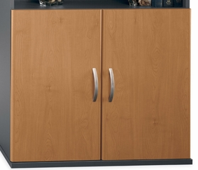 Half Height Door Kit (2 Doors) - Series C Natural Cherry Collection - Bush Office Furniture - WC72411