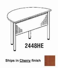 Half Round Table in Cherry - Mayline Furniture - 2448HE