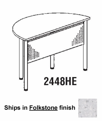 Half Round Table in Folkstone - Mayline Furniture - 2448HE