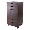 Halifax Closet Cabinet in Antique Walnut - Winsome Trading - 94792