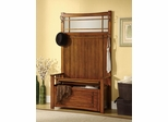 Hall Tree in Oak with Storage Bench - 900840