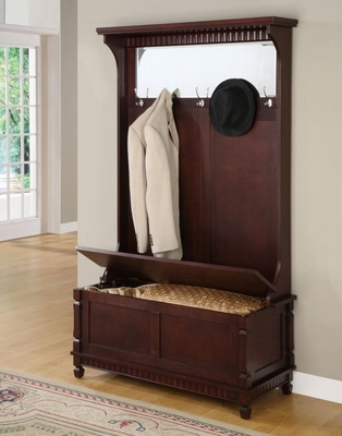Hall Tree with Storage Bench - Contemporary