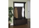 "Hall Tree with Storage Bench - Contemporary ""Merlot"" - Powell Furniture - 383-258"