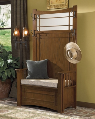 Hall Tree with Storage Bench -