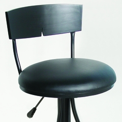 Halley Adjustable Stool in Black - Hillsdale Furniture - 63681