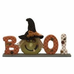 Halloween Witch's Boo Wood Sign - IMAX - 57351