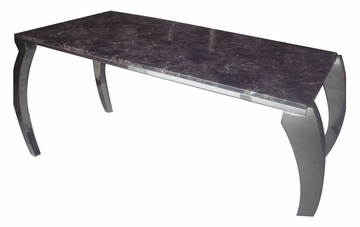 Halo Marble Cocktail Table in Brown - FT675