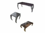 Halo Marble Table Set in Brown - Control Brand