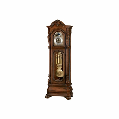 Hamlin Grandfather Clock - Rustic Cherry - Distressed - Howard Miller
