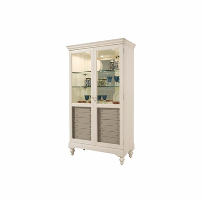 Hampshire Display Cabinet with 6 Drawers - Howard Miller