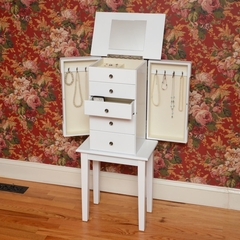 Hampton Bay Jewelry Armoire  - White - Bay Shore