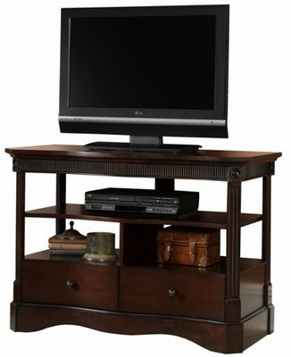 Hampton Woods Universal TV Stand Burnished Walnut - Sauder Furniture - 402969