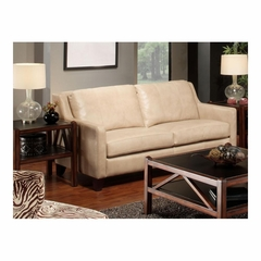 Hancock Sofa Putty Leather with Merlot Legs - Largo - LARGO-ST-L2537-401