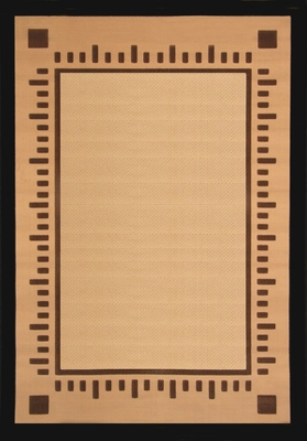 Hand Carved Machine Woven Rug - 5' 3