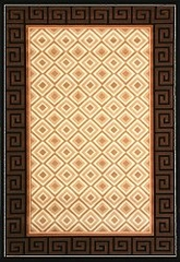 "Hand Carved Machine Woven Rug - 5' 3"" x 7' 6"" - Terra 724-26 - International Rugs"