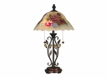 Hand Painted Crystal Leaves Table Lamp - Dale Tiffany
