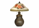 Hand Painted Floral Table Lamp - Dale Tiffany