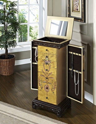 Hand Painted Jewelry Armoire - Masterpiece