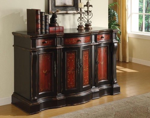 Handpainted Accent Cabinet - 950004