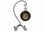 Hanging Clock on Curved Stand - IMAX - 16169