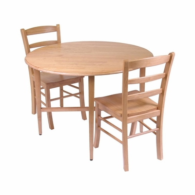 Hannah 3Pc Dining Set - Winsome Trading - 34342