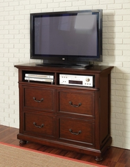 Hannah Media Chest in Brown Cherry - 200836