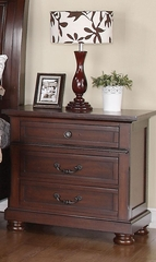 Hannah Nightstand in Brown Cherry - 200832