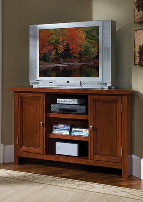 Hanover Corner Entertainment TV Stand in Cherry - Home Styles - 5532-07
