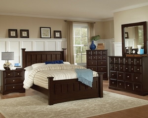 Harbor California King Size Bedroom Furniture Set in Rich Cappuccino - Coaster - 201381KW-BSET