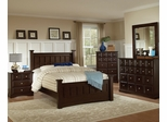 Harbor Eastern King Size Bedroom Furniture Set in Rich Cappuccino - Coaster - 201381KE-BSET