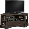 Harbor View Antiqued Paint Corner Entertainment Credenza - Sauder Furniture - 402902
