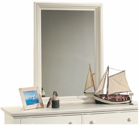 Harbor View Mirror Antique White - Sauder Furniture - 158010